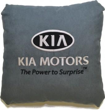 Подушка замшевая Kia (А101 - серая)