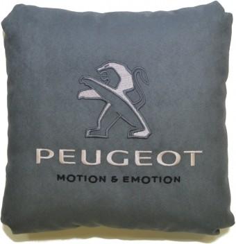 Подушка замшевая Peugeot (А101 - серая)