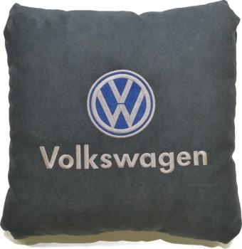 Подушка замшевая Volkswagen (А101 - серая)