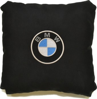 Подушка замшевая BMW (А18 - черная)