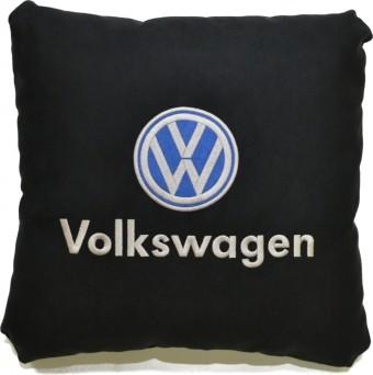 Подушка замшевая Volkswagen (А18 - черная)