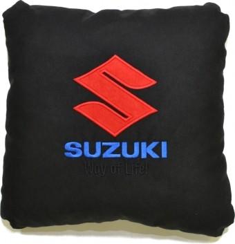 Подушка замшевая Suzuki (А18 - черная)