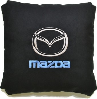 Подушка замшевая Mazda (А18 - черная)