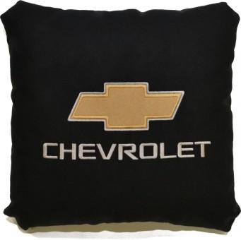 Подушка замшевая Chevrolet (А18 - черная)