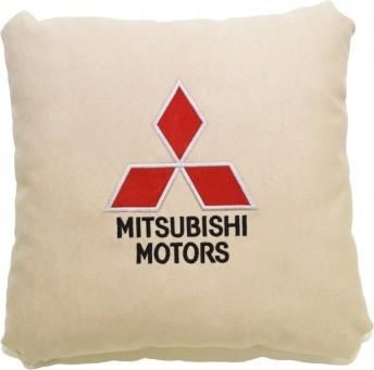 Подушка замшевая Mitsubishi (А02 - светло-бежевая)