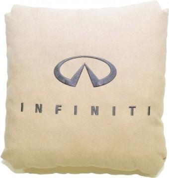 Подушка замшевая Infiniti (А03 - бежевая)