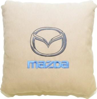 Подушка замшевая Mazda (А02 - светло-бежевая)