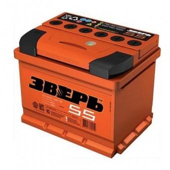 Аккумулятор Зверь 6СТ 55 3-L 55 А/ч п.п. ток 530  242 х 175 х 190