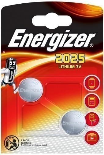 Батарейка CR2025 Energizer Lithium (блистер, 2 шт)