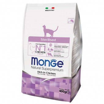 Сухой корм для кошек Monge Daily Line - Sterilised (400 г)