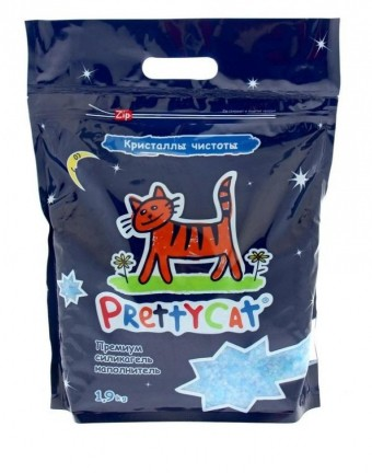 Наполнитель кошачьего туалета Pretty Cat Кристаллы чистоты (силикагель, 1,9 кг, без запаха)