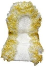 Накидка меховая натур. Sho Me (комб/в, бело-коричневая, перед, 1 шт.)