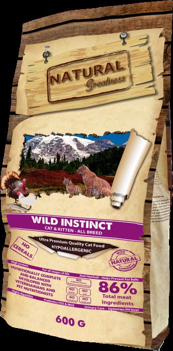 Сухой корм для кошек Natural Greatness Wild Instinct, 0,6 кг
