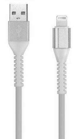 Кабель зарядки Smartbuy 512 Flow 3D, USB - iPhone (2 А, 1 м, белый)
