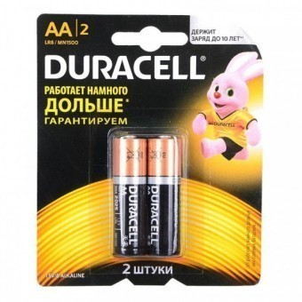 Батарейка АА (LR6) Duracell Basic (блистер, 2 шт)