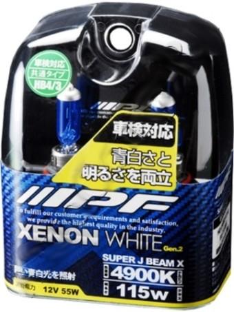 Лампы IPF HB4/3 Xenon White XE (12v, 55w, 4900К, XE95R, 2шт.)