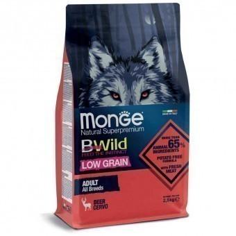 Сухой корм для собак Monge BWild Low Grain - Deer (2,5 кг)