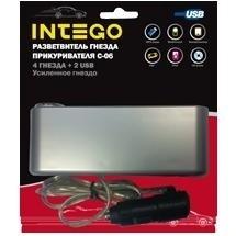 Разветвитель Intego C-06 (2 USB, 4 гн.)