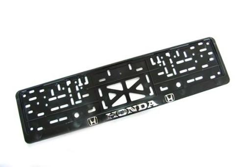Рамка для номера Honda (с защелкой, золото, серебро, хром)