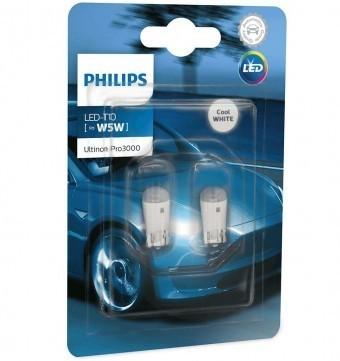 Светодиодные лампы Philips W5W Ultinon Pro3000 LED (6000K, 2 шт)