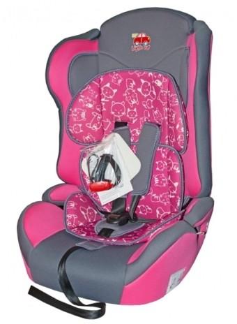Автокресло детское 9-36кг. Little Car Comfort коты-розовый