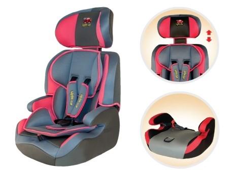 Автокресло детское 9-36кг. Little Car 515B розовый