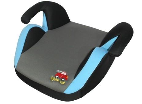 Бустер детский 15-36кг. Little Car LB-311 серый-синий