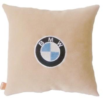 Подушка замшевая BMW (А02 - светло-бежевая)