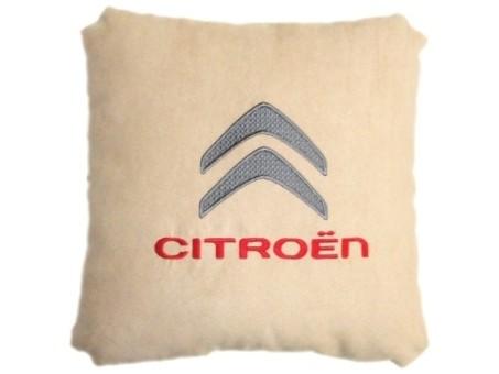 Подушка замшевая Citroen (А02 - светло-бежевая)