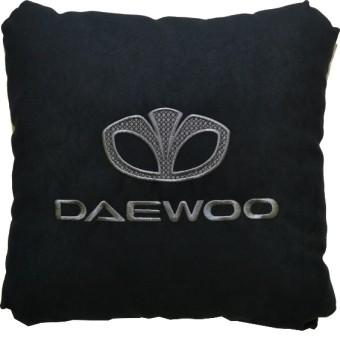 Подушка замшевая Daewoo (А18 - черная)