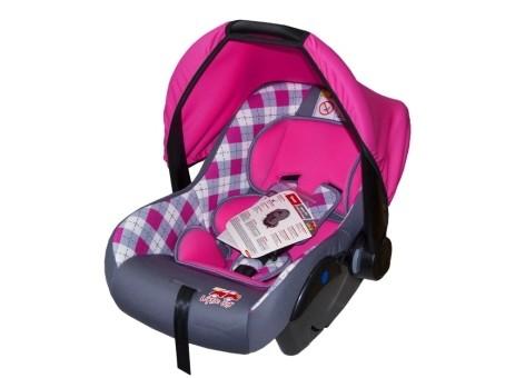 Автокресло детское 0-13кг. Little Car Sweet клетка-розовый
