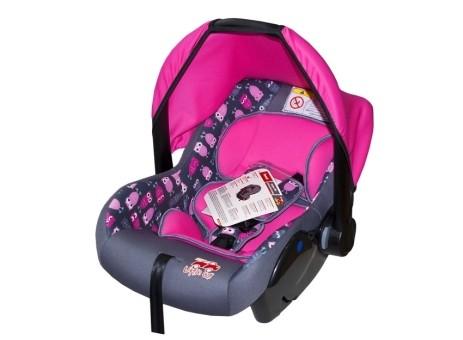 Автокресло детское 0-13кг. Little Car Sweet совы-розовый