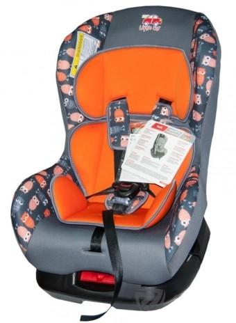 Автокресло детское 0-18кг. Little Car Soft совы-оранжевый