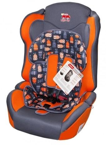 Автокресло детское 9-36кг. Little Car Comfort совы-оранжевый