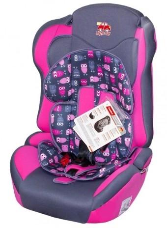 Автокресло детское 9-36кг. Little Car Comfort совы-розовый