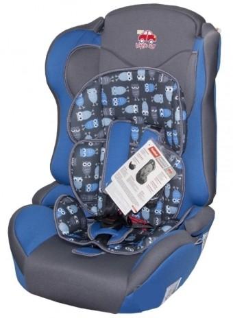 Автокресло детское 9-36кг. Little Car Comfort совы-синий