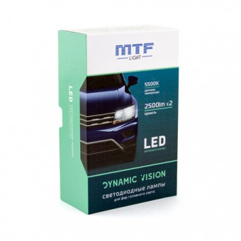 Светодиодные лампы MTF Dynamic Vision H11 (5500K)
