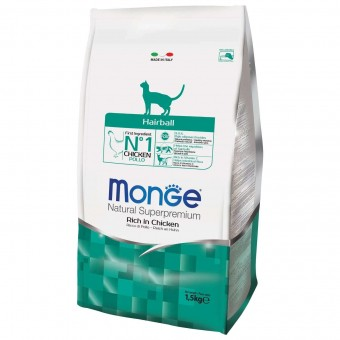 Сухой корм для кошек Monge Daily Line -  Hairball (1,5 кг)