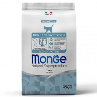 Сухой корм для котят Monge Speciality Line - Kitten Trout (400 г)