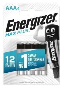 Батарейки AAA (LR03) Energizer Max Plus (блистер, 4 шт)