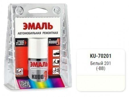 Краска-кисточка KUDO KU-70201 (ВАЗ, 201, белый)