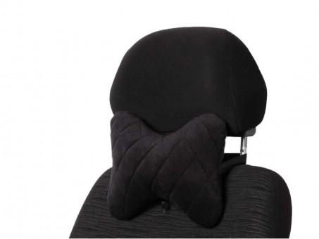 Подушка-косточка AirLine Алькантара (черная)