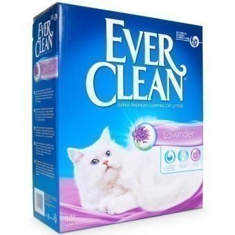 Наполнитель кошачьего туалета Ever Clean Lavender (глиняный, 10,0 кг, 10 л, лаванда)