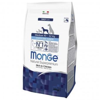 Сухой корм для щенков Monge Daily Line - Medium Puppy & Junior (0,8 кг)