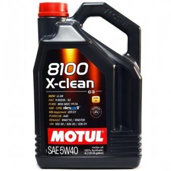 Масло моторное Motul 8100 X-clean 5W40 (4 л)