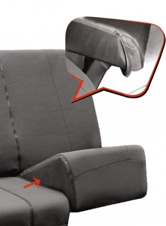Вставки (экокожа) для деления сидения заднего ряда PSV (Черный)