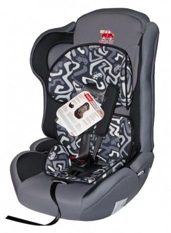 Автокресло детское 9-36кг. Little Car Comfort лабиринт-серый