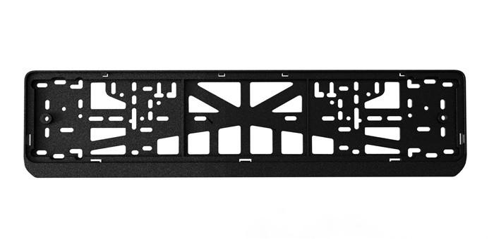 Рамка для номера (c защелкой, черная)