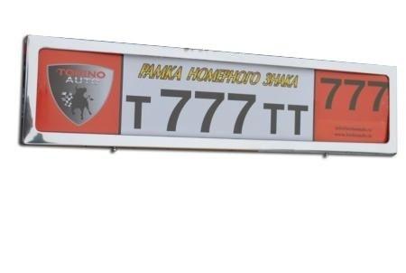Рамка для номера TORINO HJ-PF-001CH (хром)