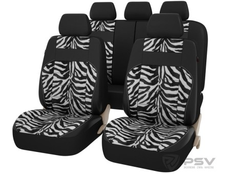 Чехлы PSV Discovery zebra (Зебра) L, экокожа+ велюр